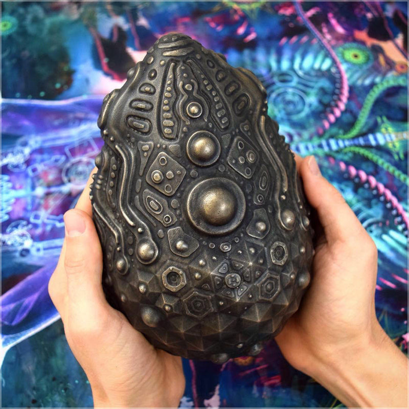 Bronze Egg Artifact Sculpture
