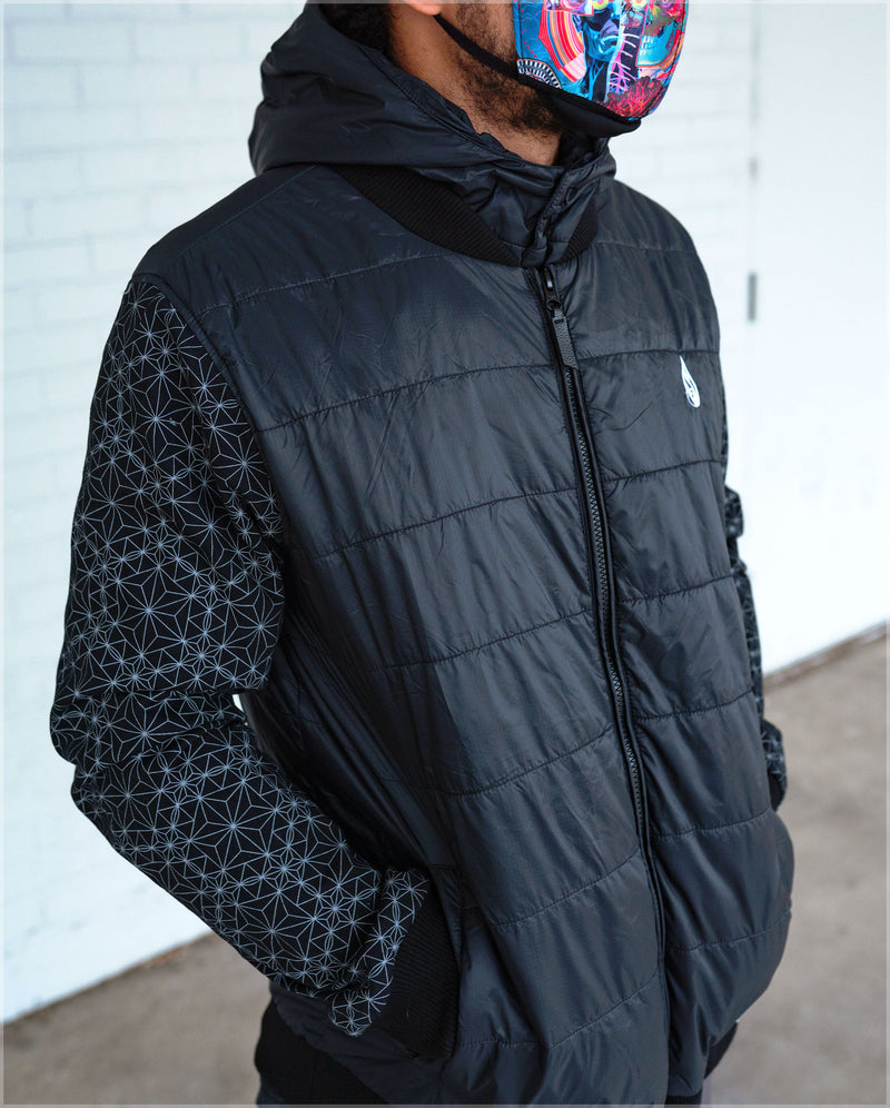 Quilted Bomber Jacket by Threyda