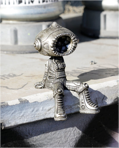 Kosmik Mini Sculpture - Pewter Cast by Ben Ridgway