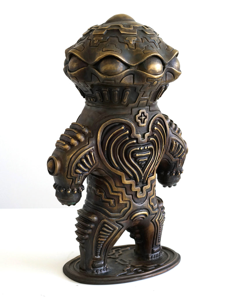 Alien Dogu Bronze Sculpture by Ben Ridgway
