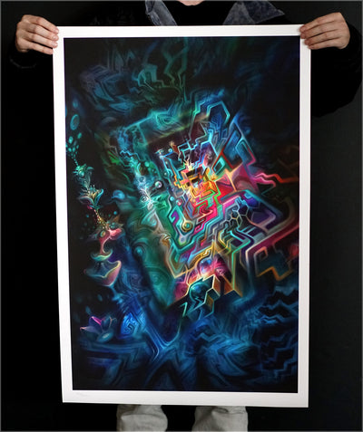 Vortex Signed Watercolor Print by Fabian Jimenez
