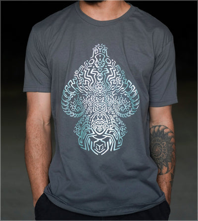 Mycelial Network Colorshifting Screenprint Tee by Fabian Jimenez - Ships March 2021