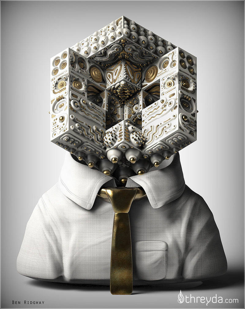 Facial Recognition by Ben Ridgway , Art Print - Ben Ridgway, Threyda