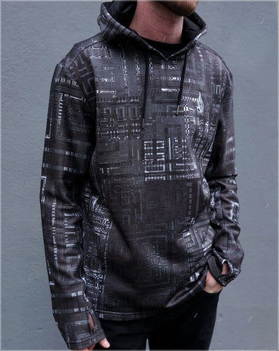 Fragmentation Midweight Pullover Hoodie by Frame of Mind