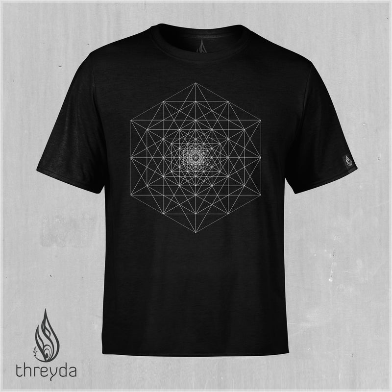 Hexagram Cotton Tee by Andy Gilmore