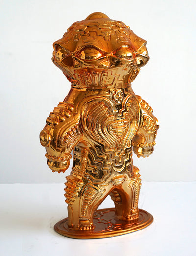Dogu Gold Chrome Player Sculpture by Ben Ridgway