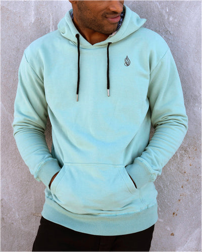 Polychromatic Cotton Pullover Hoodie by Threyda