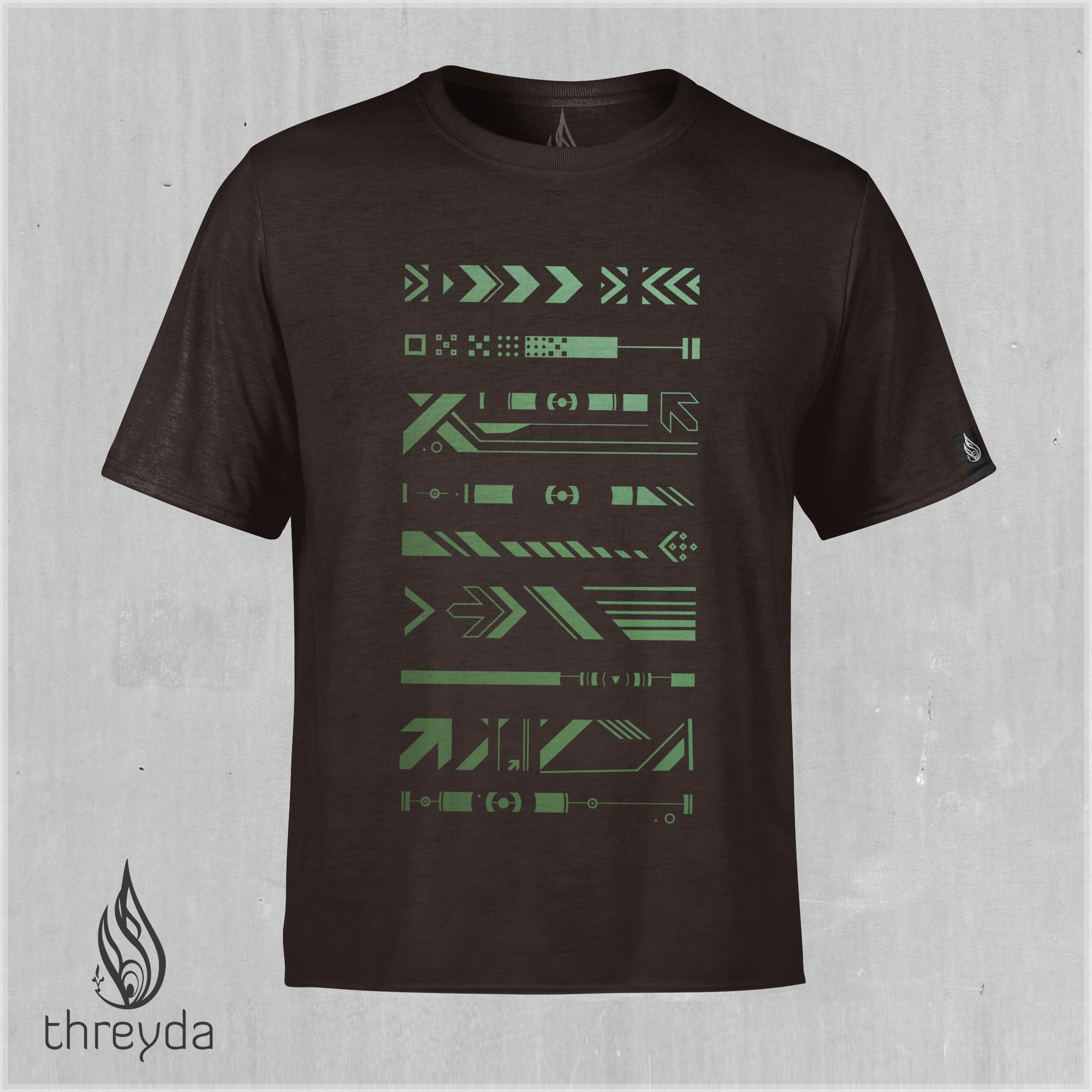 Data Hieroglyph Color Shifting Cotton Tee by Threyda