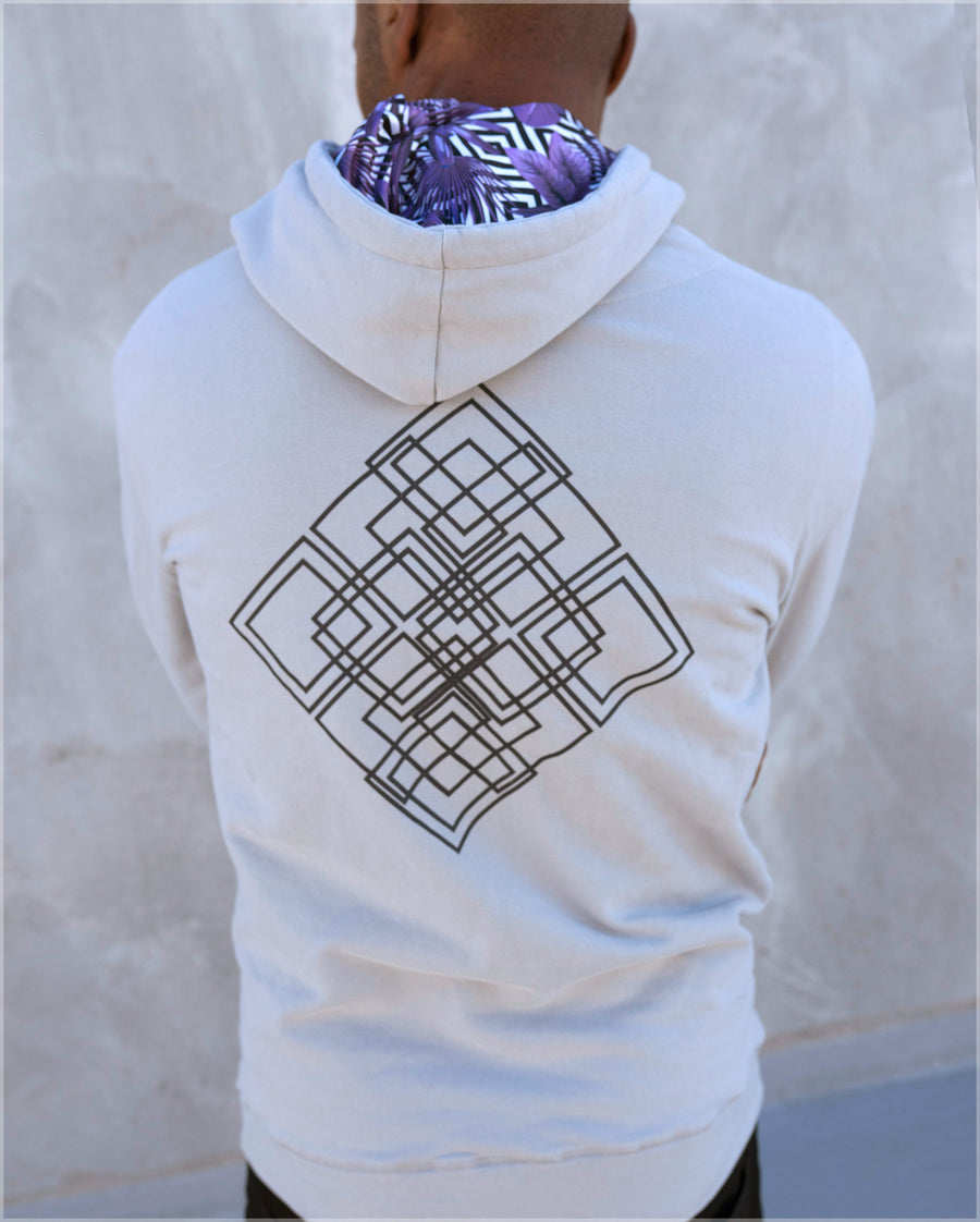 Efflorescent Cotton Pullover Hoodie by Threyda