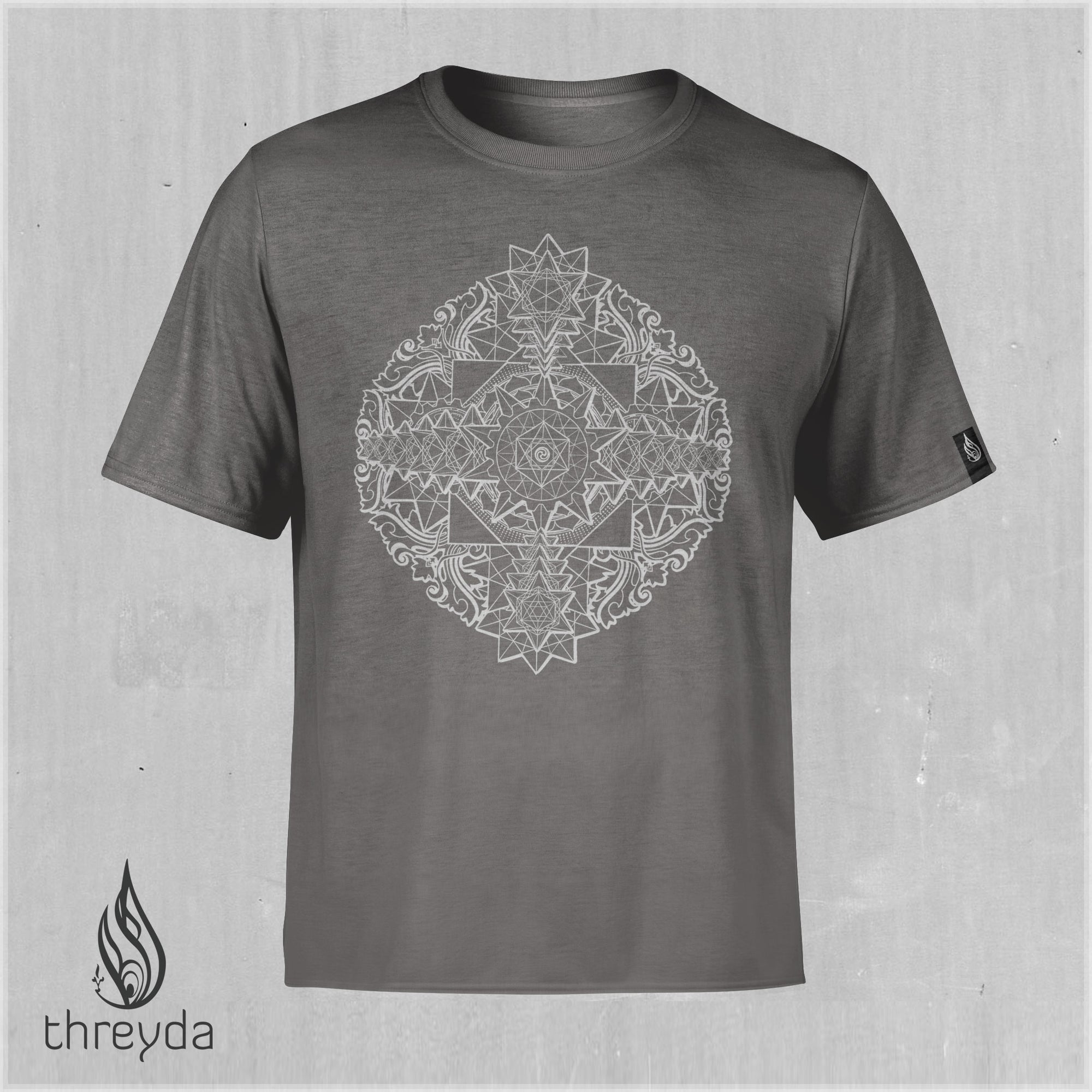 Sri Yantra Light Screenprint Tee by Kimi Takemura