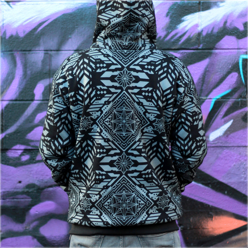 Huachuma Reversible Hoodie 2.0 by Justin Totemical