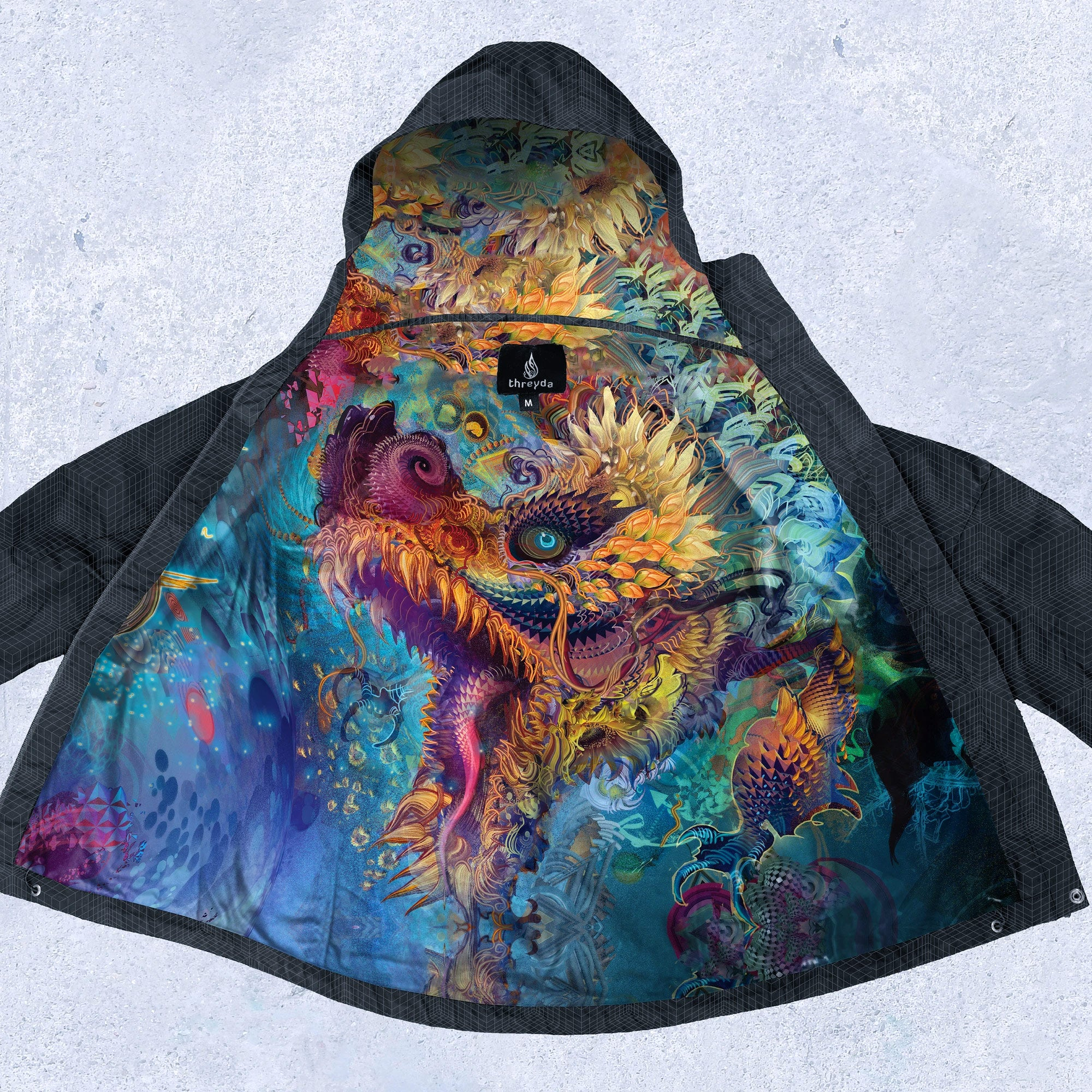 Hummingdragon Obsidian Jacket by Android Jones - Ships Dec 2020