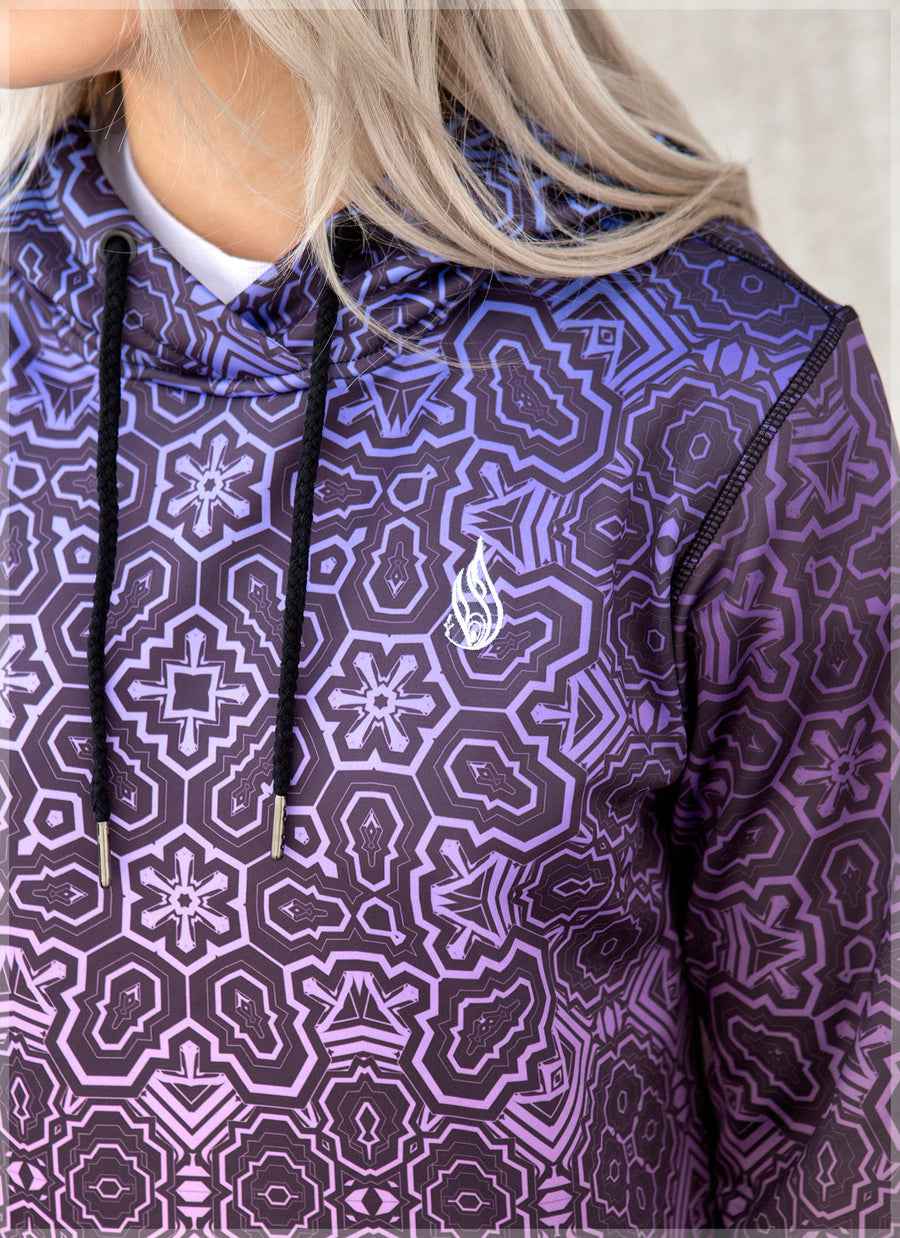 Snowflake Women's Pullover Hoodie by Totemical
