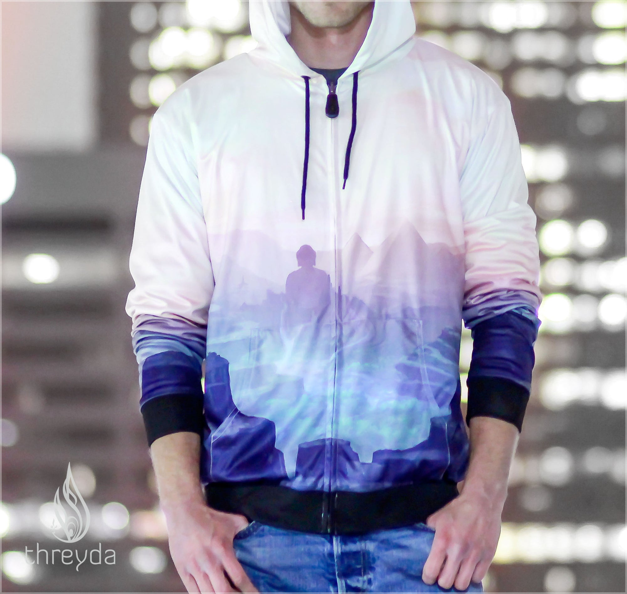 Kensho Dreams Reversible Satin Jacket by Justin Totemical , Apparel - Justin Totemical, Threyda - 3