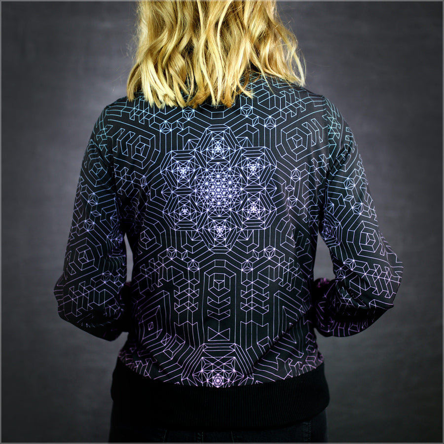 Diametric Hex Bomber Jacket by Mike Cole