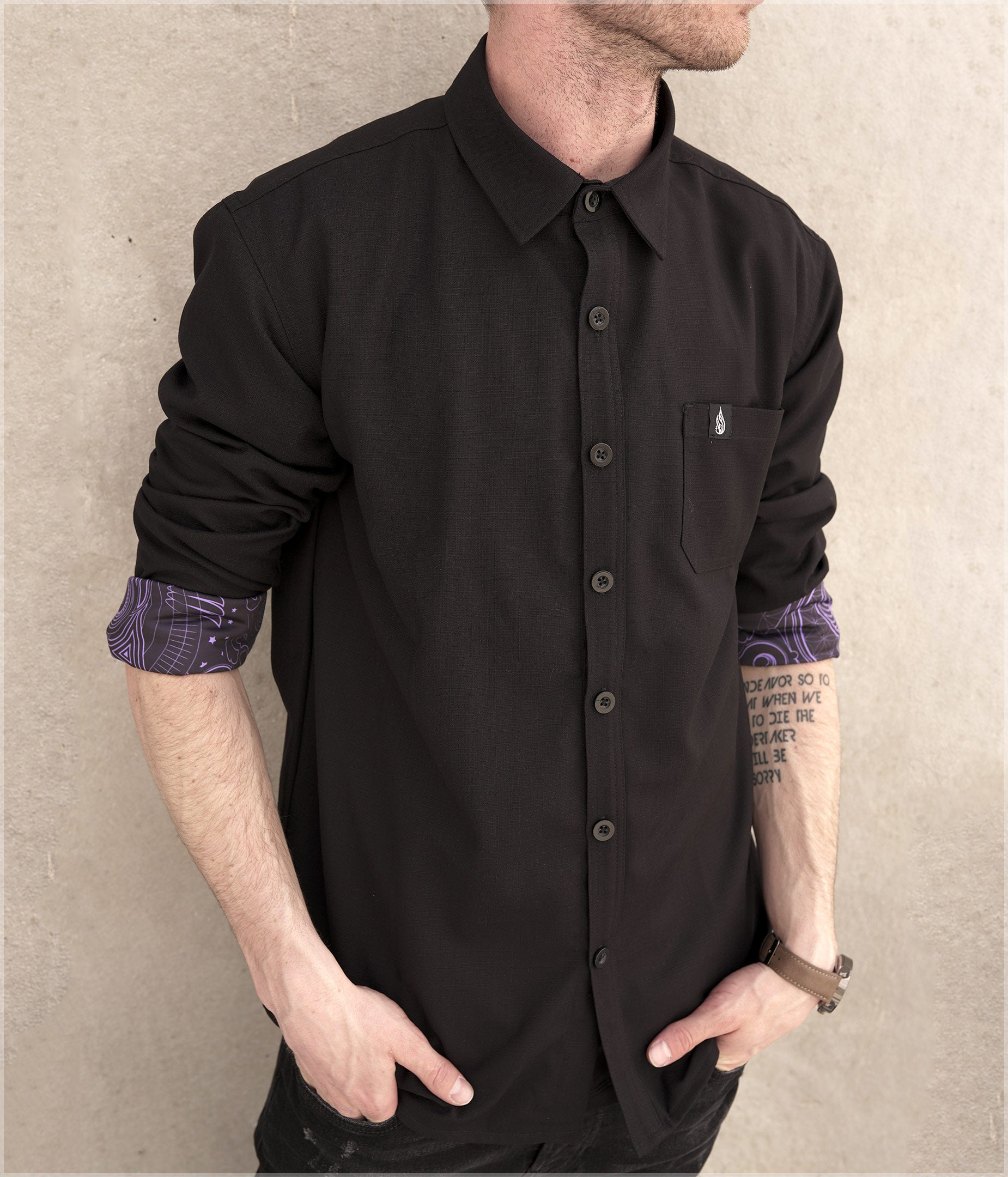 Arc Button Down Shirt by Mugwort