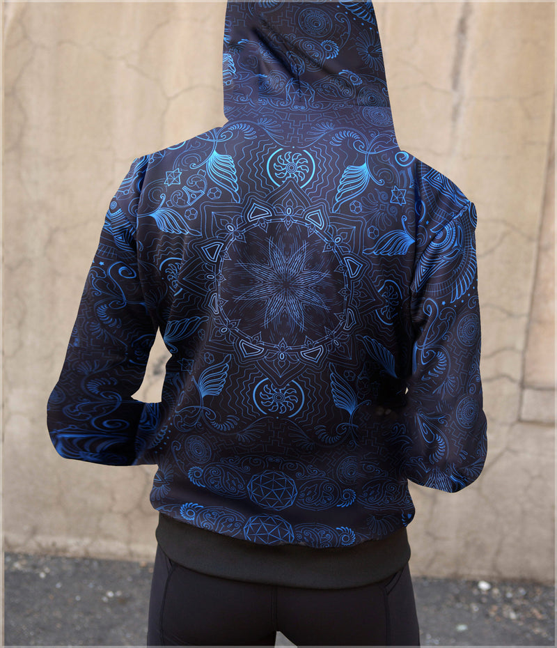 Arc Reactor Women's Sherpa Hoodie by Threyda