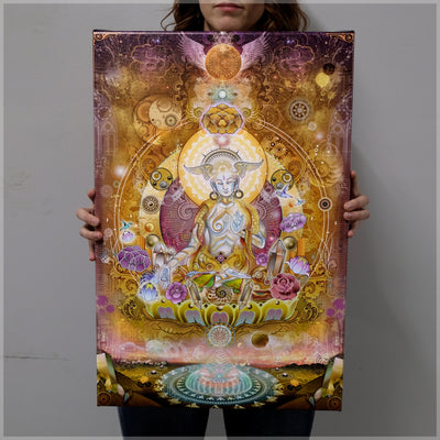 White Tara Canvas Print by Mugwort