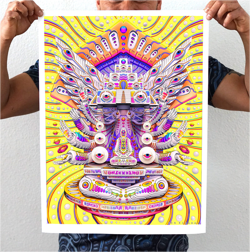 Temple Gnosis Print by Ben Ridgway