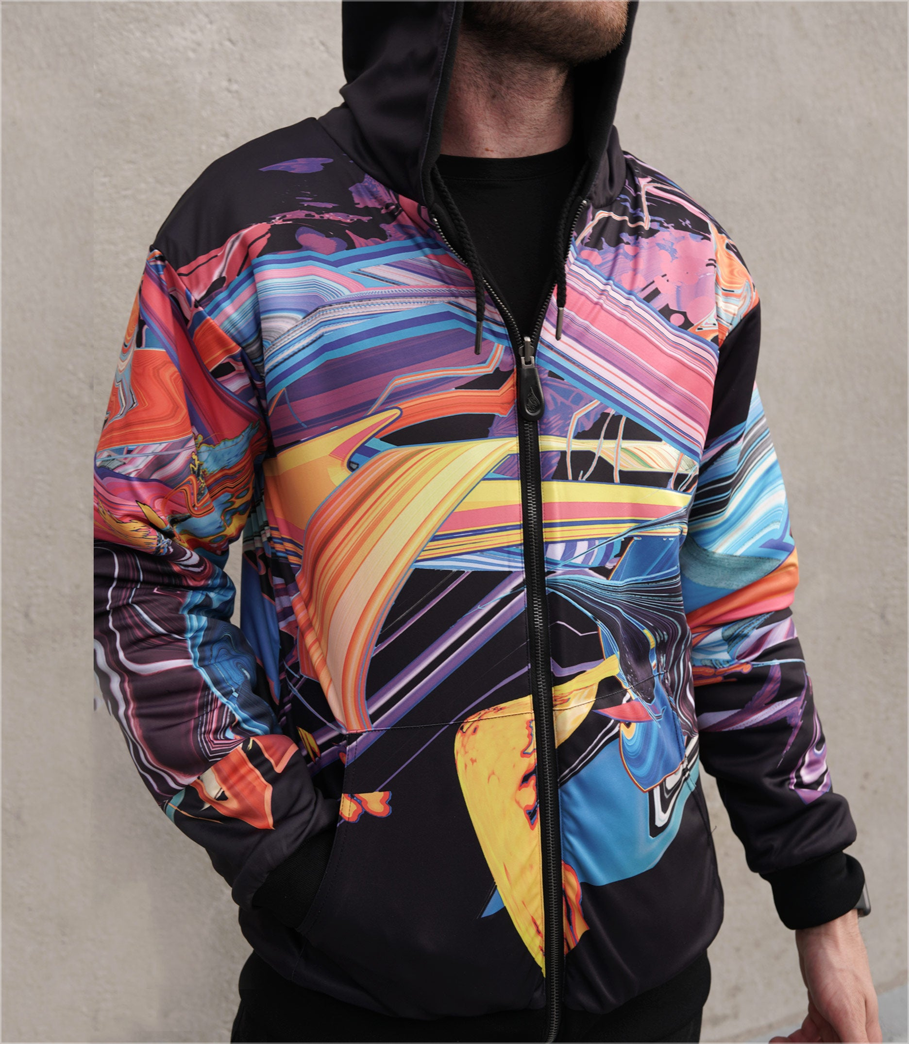 GUI Reversible Heavyweight Hoodie by Android Jones