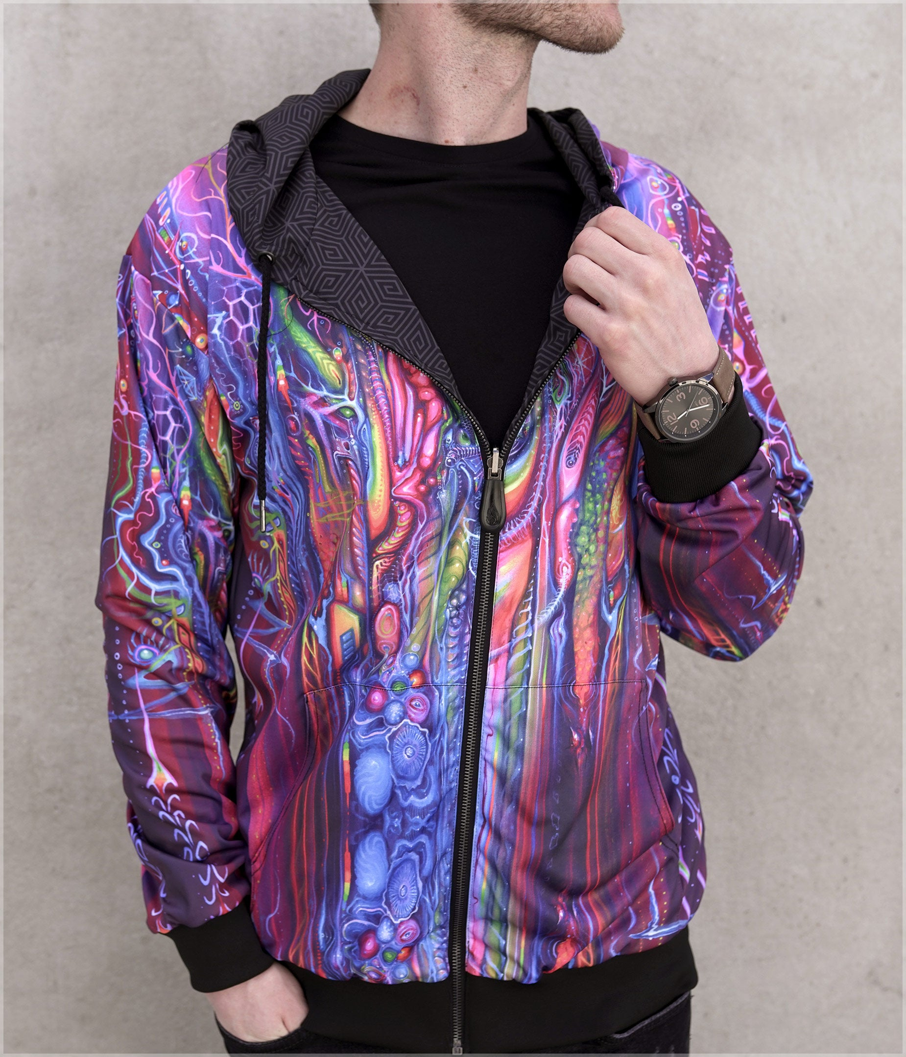 Peak Lightweight Reversible Satin Jacket by E Howard - Backstock Available