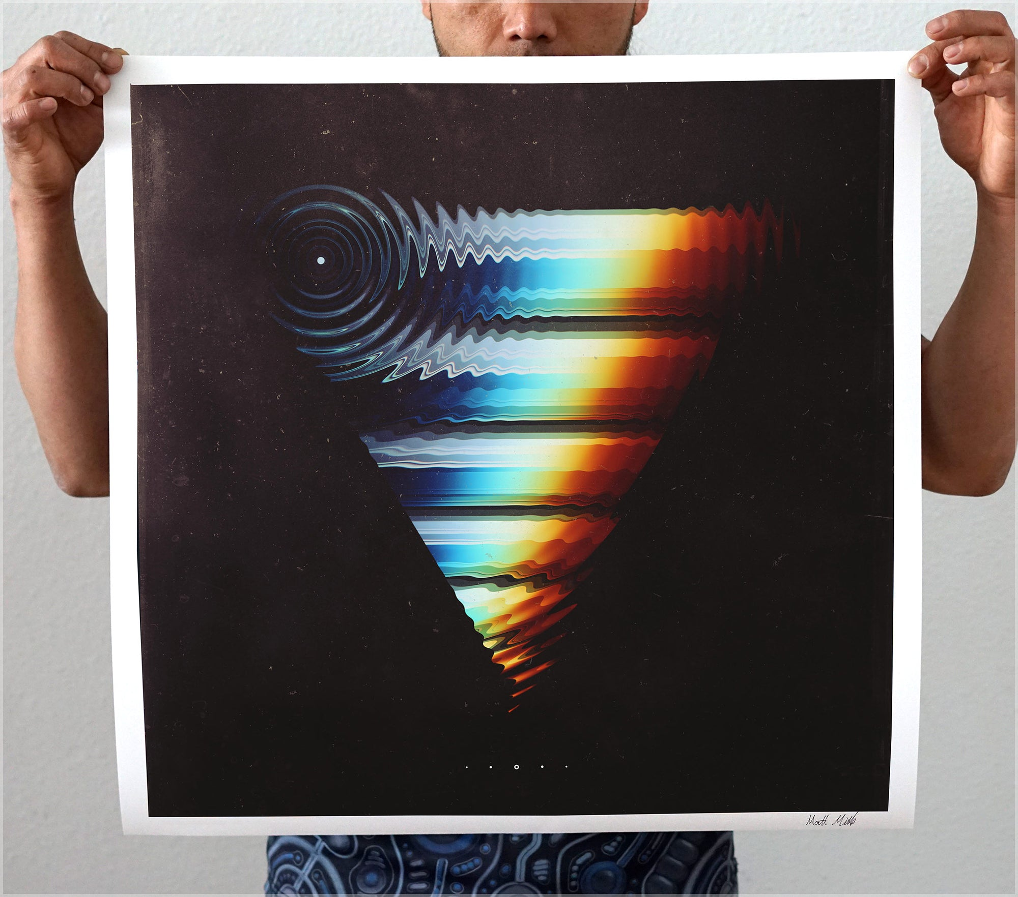 Recoiled Signed Print by Matt Mills - 24 x 24 in.