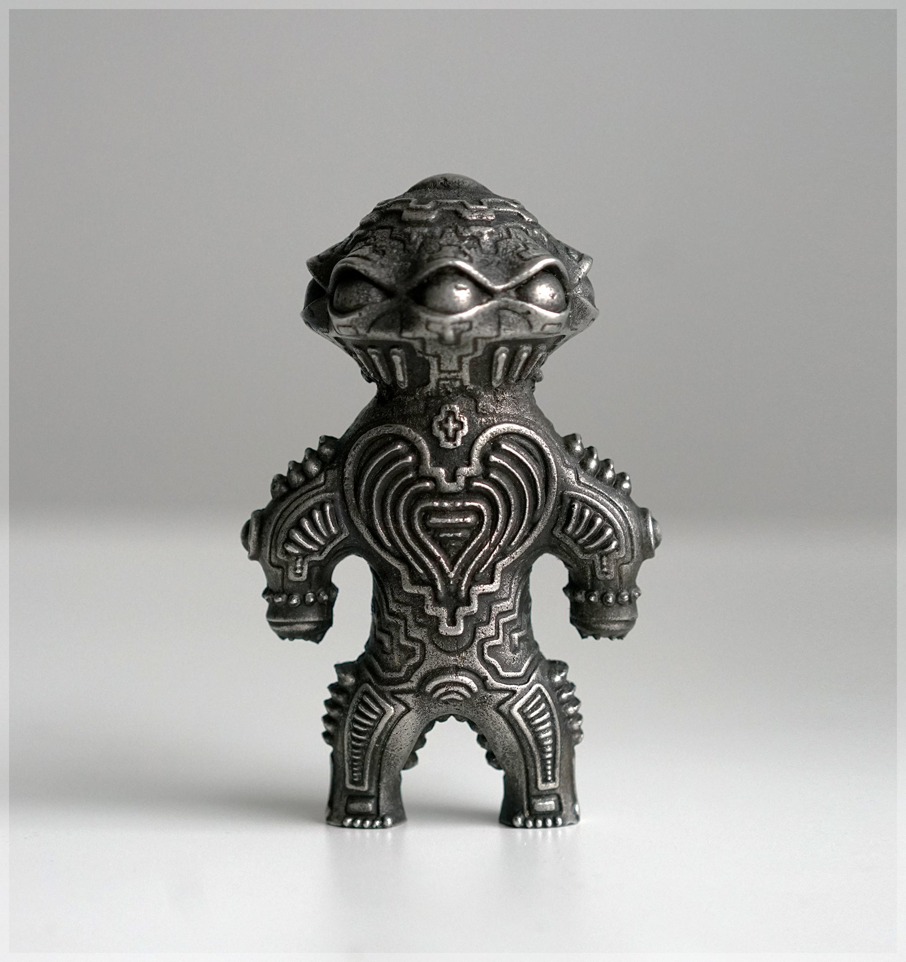 Alien Dogu Sculpture - Pewter Cast by Ben Ridgway