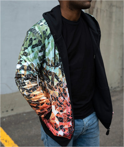 Color Quanta Reversible Heavyweight Hoodie by Andy Gilmore