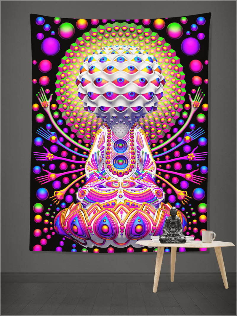 Rainbow Consciousness Tapestry by Ben Ridgway