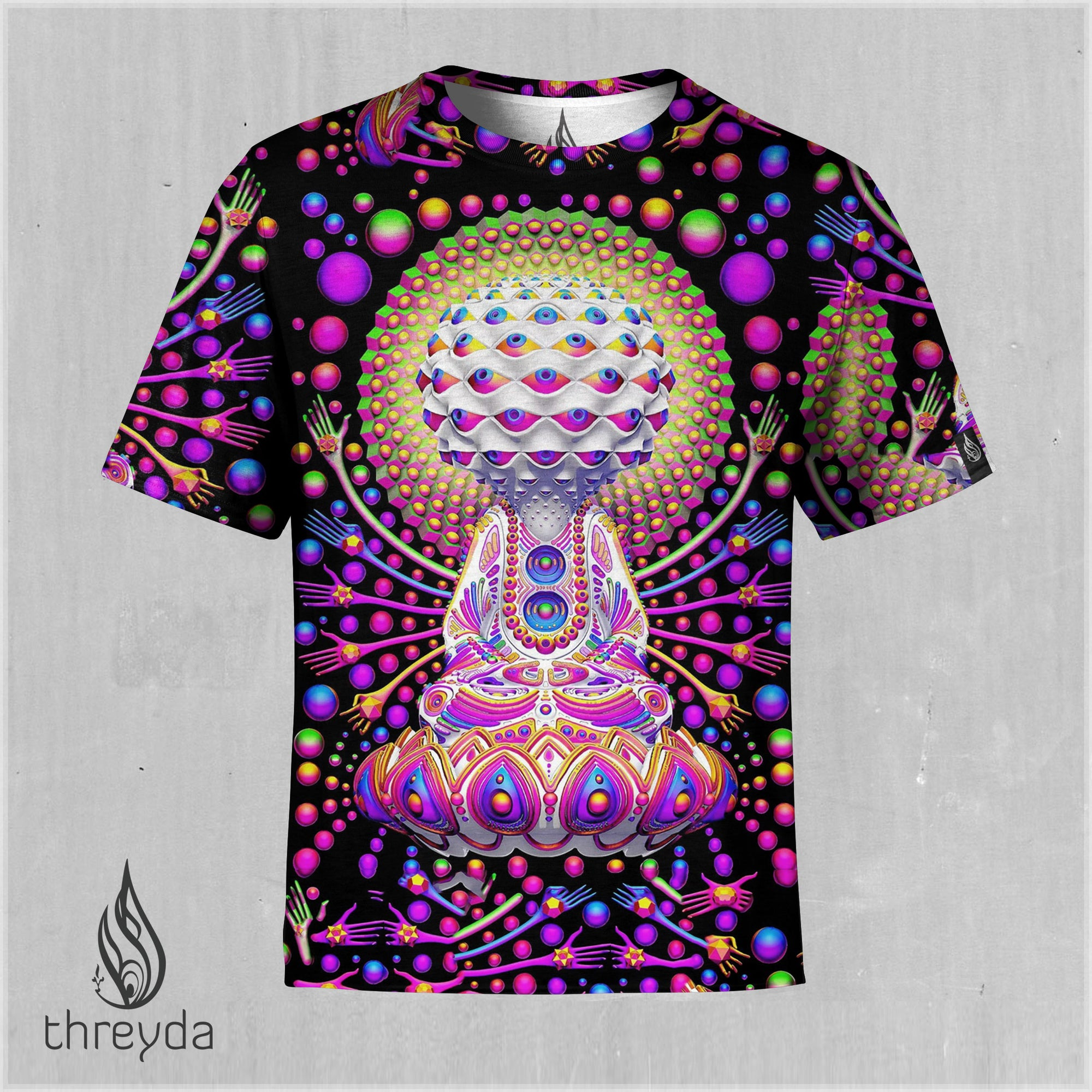 Rainbow Consciousness Sublimation Tee by Ben Ridgway