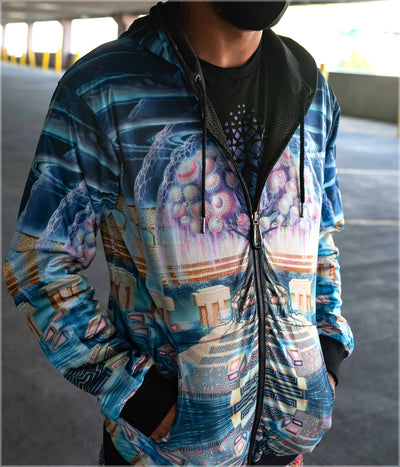 Roots of Creation Midweight Reversible Hoodie by Blake Foster - Misprint
