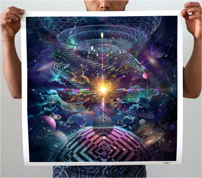 Samsara Signed Print by Peter Westermann - 24 x 24 in.