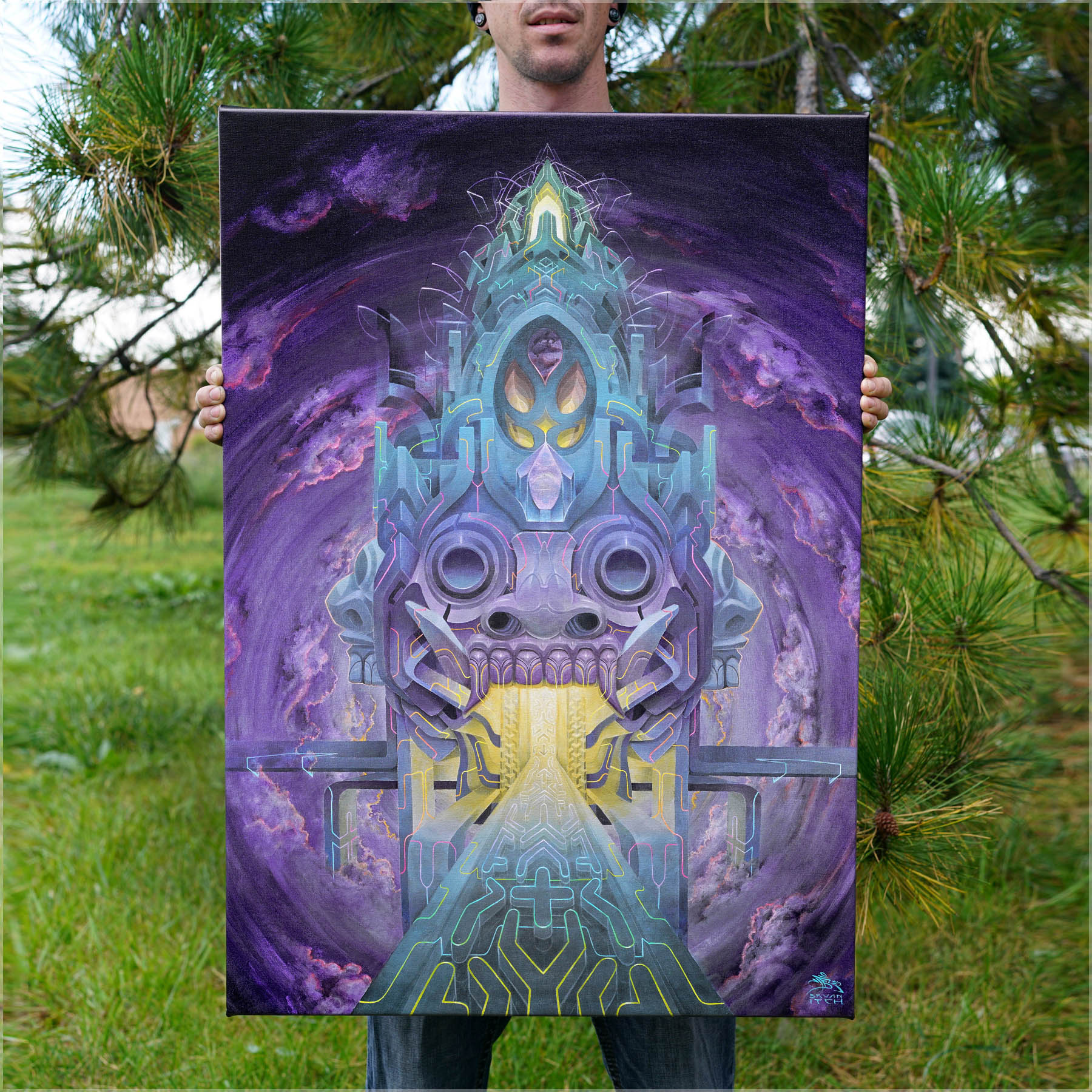 """Samsara"" by Bryan Itch Stretched Canvas Print"