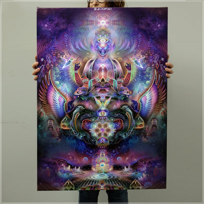 Sky Diamonds Canvas Print by Mugwort
