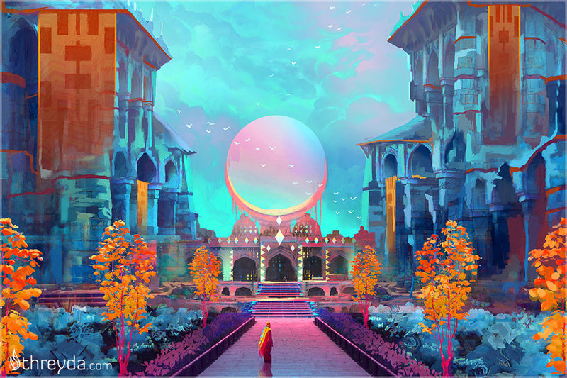 Sprite Garden by Justin Totemical , Art Print - Justin Totemical, Threyda