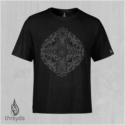 Sri Yantra Screenprint Tee by Kimi Takemura