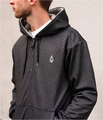 Blackstar Sherpa Hoodie by Threyda - Ships Jan 2020