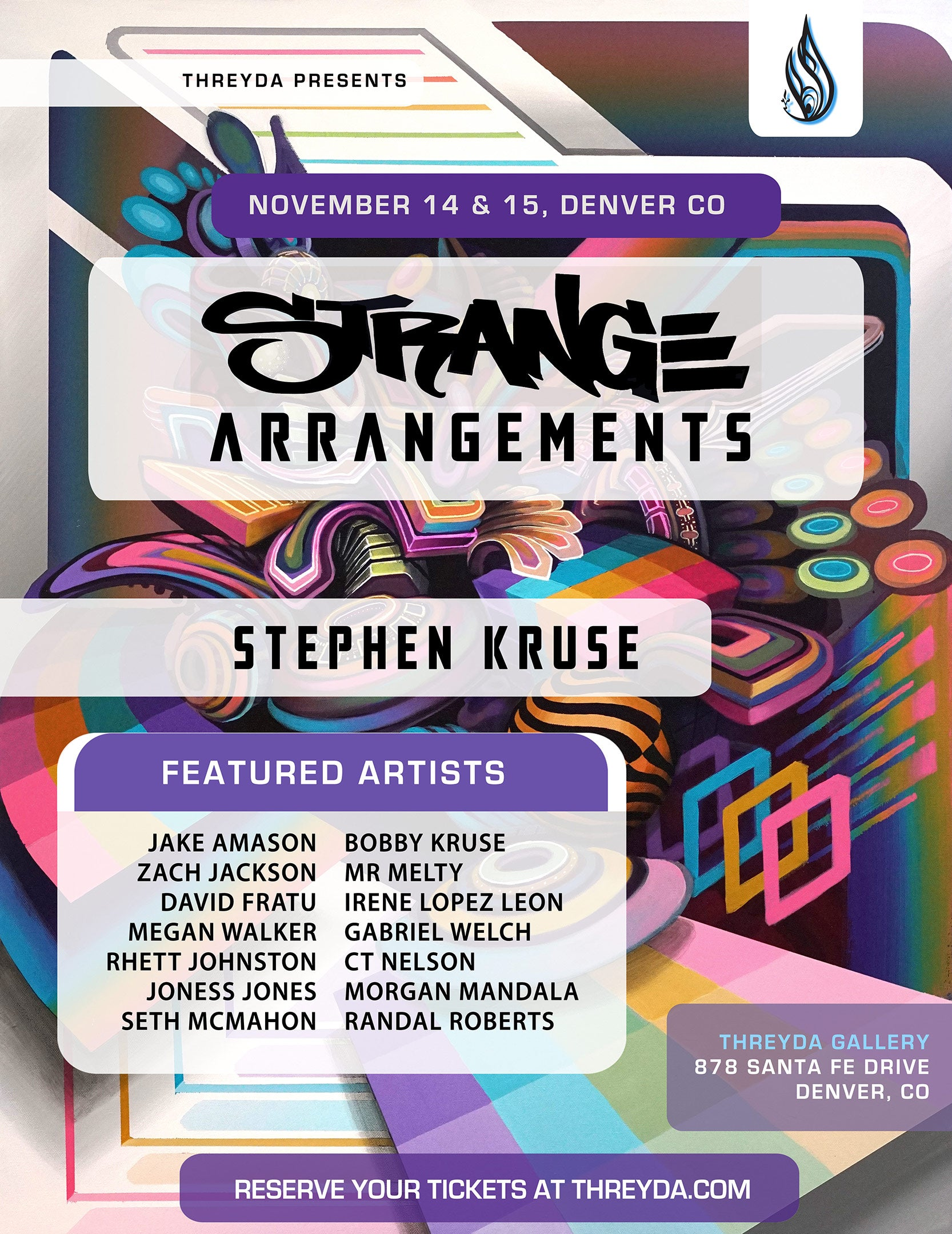 Strange Arrangements by Stephen Kruse - November 14th and 15th