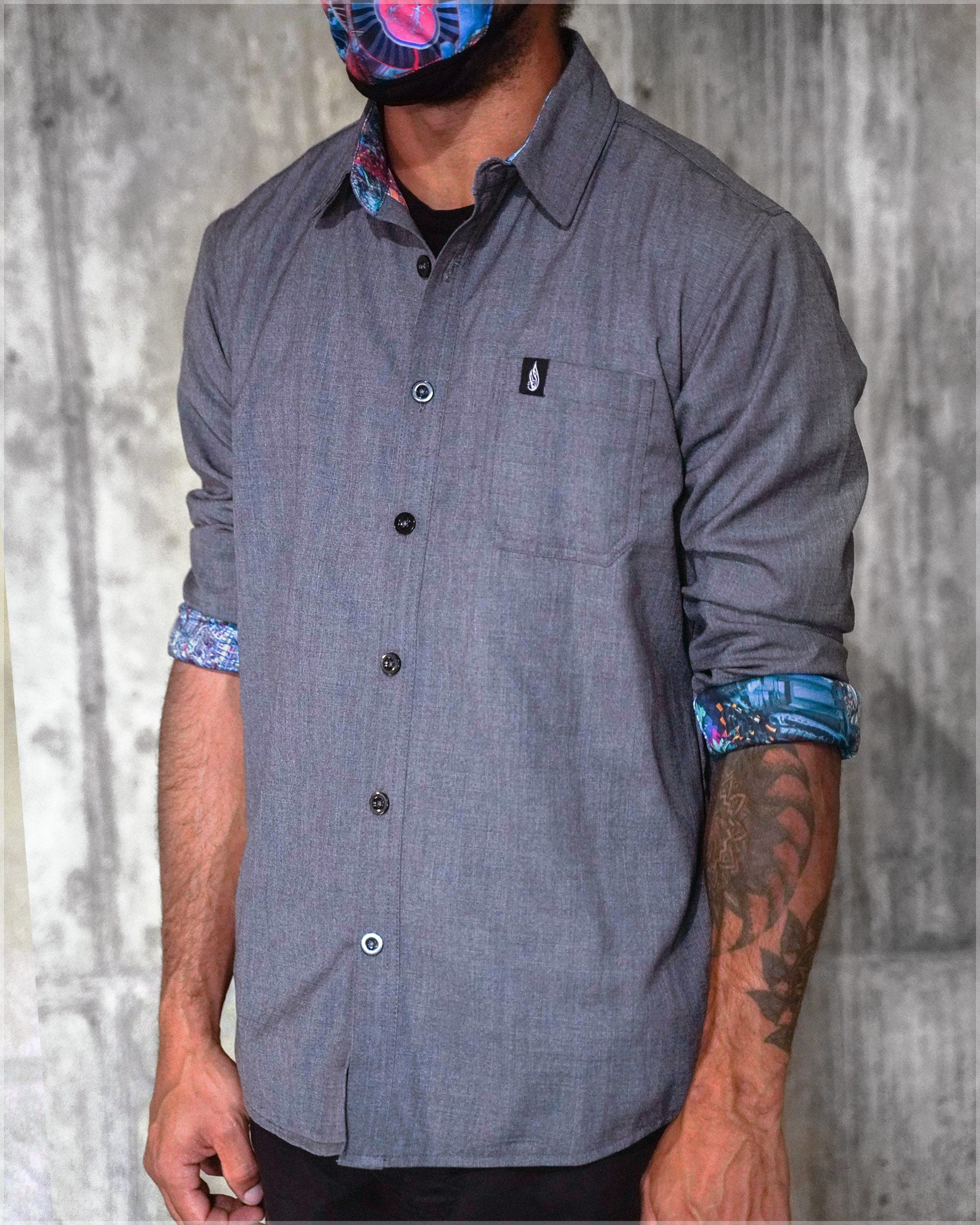 Terra Cuda Button Down Shirt by Android Jones