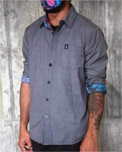 Terra Cuda Button Down Shirt by Android Jones - Ships Dec 2020