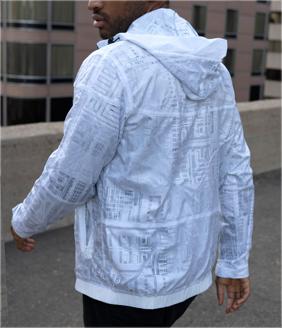 Fragmentation Transparent Windbreaker by Frame of Mind