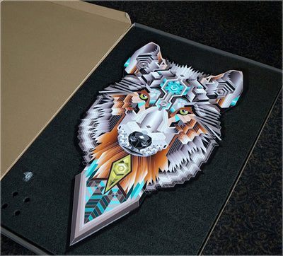 A.I. Wolf Aluminum Diecut Print by Mike Cole