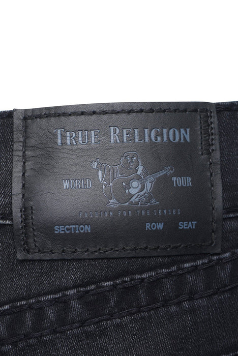 TRUE RELIGION ROCCO SLIM FIT VINTAGE SUPER T JEAN BLACK - giancarloricci