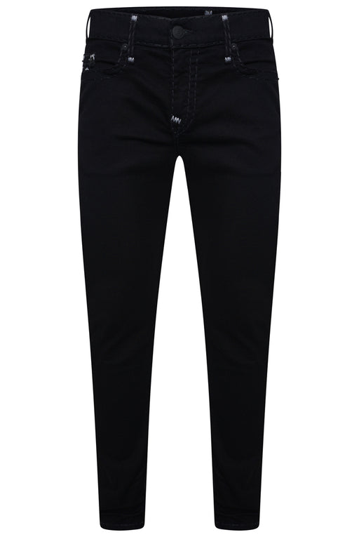 TRUE RELIGION TONY SKINNY FIT SUPER T STITCH JEAN BLACK - giancarloricci