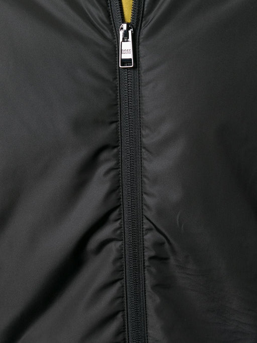 BOSS SMART CASUAL NYLON PANEL ZIPPER SWEAT JACKET BLACK - giancarloricci