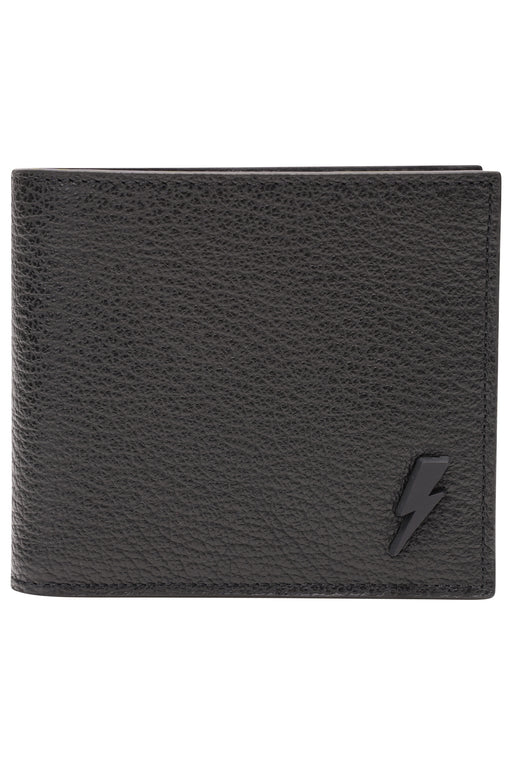 NEIL BARRETT THUNDERBOLT WALLET BLACK