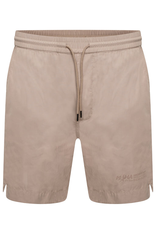 MAHARISHI PRINT LEG POLY COTTON SWIMMER BEIGE