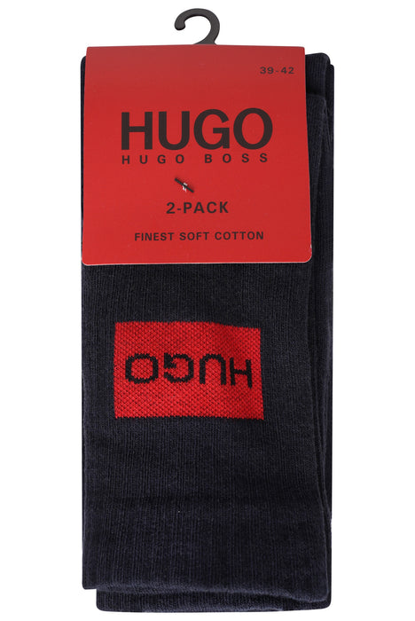 HUGO BODYWEAR PATCH LOGO 2 PACK SPORTS SOCK BLUE