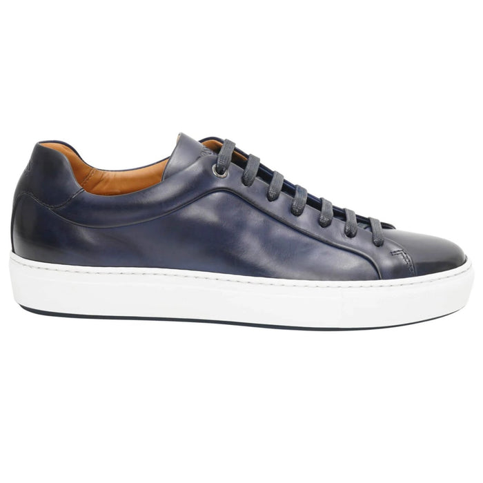 BOSS LACE UP CUP SOLE TRAINER BLUE - Giancarlo Ricci