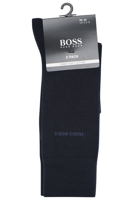 BOSS BODYWEAR CLASSIC 2 PACK COTTON SOCK BLUE - giancarloricci
